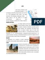 CARACTERISTICAS DEL DEPARTAMENTO DE ICA