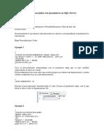 Procedimientos Almacenados Con Parametros en SQL Server