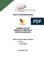 Texto Compilado de Derecho Minero