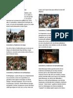 Costumbres y Tradiciones de 22 DEPARTAMENTOS