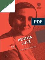 MARQUES, Tereza Cristina de Novaes. Bertha Lutz Marques -