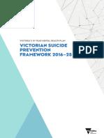 Victorian Suicide Prevention Framework 2016-25