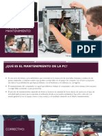 Mantenimiento de La Pc