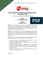 Reglamento Del Cod. de Seg. Social en Bo-re-ds5315