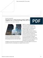 Apple Inc's Marketing Mix (4P's) - Panmore Institute