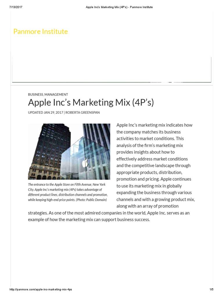 apple marketing mix