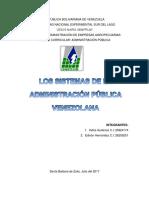 Sistemas de La Administracion Publica Venezolana