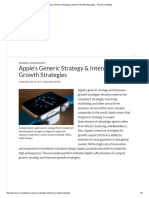 Apple's Generic Strategy & Intensive Growth Strategies - Panmore Institute