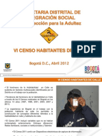 Censo Habitante Calle Bogota 2011