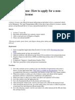 Drivers License Process