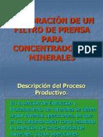 Elaboración de Un Filtro de Prensa Para Concentrados de Minerales.