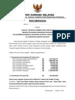 Rekomendasi Bupati APBN 2017