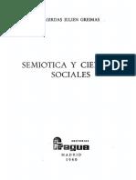 Greimas a J - Semiotica Y Ciencias Sociales