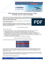 ICAO Language Proficiency Requirements (LPRs) - English for Aviation