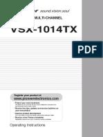 Vsx1014 Manual