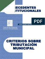 01 Tributaciòn Municipal - PRECEDENTES CONSTITUCIONALES - Julio Cesar Castiglioni