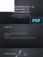 Rabdomiolisis y El Sindrome de Aplastamiento