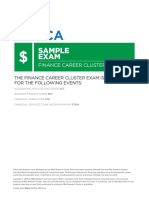 The Finance Career Cluster Exam