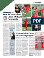 La Provincia Di Cremona 14-07-2017 - Serie B - Pag.1