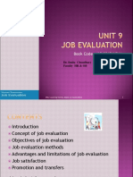 Unit 9 Job Evaluation