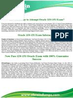 1Z0-151 Dumps   Oracle Database Administration Exam