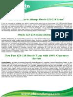 1Z0-218 Dumps   Oracle Application deployment Exam