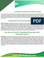 CheckPoint  156-410.12 Exam Dumps