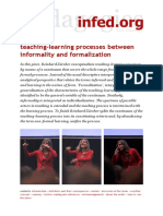 Teaching-learning Processes Between Informality and Formalization