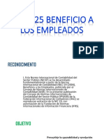 NICSP 25 Beneficio a Los Empleados
