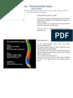 Spine - Thoracolumbar Injury
