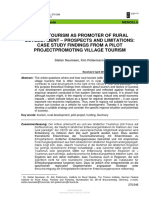 1502-Rural Tourism as Promoter of Rural Development - Prospects and Limitations