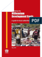 Localizing the Millenium Development Goals a Guide for Local Authorities and Partners