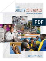 2015 Sustainability Goals Mid Term Progress Report