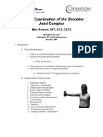 Mike Reinold Shoulder Clinical Exam Checklist