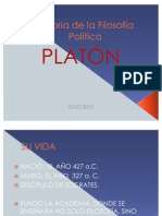 PLATÓN Historia de la Filosofía Política