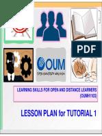 Lesson Plan for Tutorial 1 OUMH1103khvbkhv