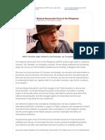 NDFP Renders Tribute to Jan Beentjes