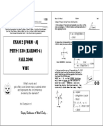 phys 1130 exam 2 + solution