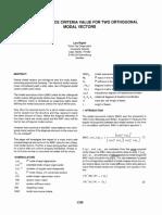 Sem.org IMAC XVI 16th Int 163801 Modal Assurance Criteria Value Two Orthogonal Modal Vectors