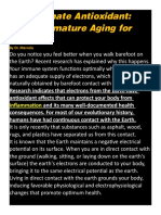 BAREFOOT WALKING-Fight Premature Aging for Free-The Ultimate Antioxidant