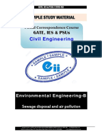 Gate Ies Postal Studymaterial for Environmental-B Sewage Civil