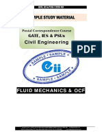 Gate Ies Postal Studymaterial for Fluid Mechanics OCF Civil