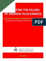 Kaweesi Report