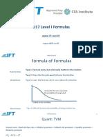 2017 Level I Formula Sheet