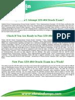 Oracle 1Z0-404 Dumps - Communications Session Border Controller 7 Basic