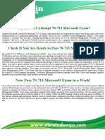 70-713 Dumps  -  Software Asset Management (SAM) Core 70-713 Exam