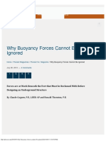 Why Buoyancy Forces Cannot Be Ignored