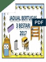 Jadual Bertugas 3 B 2017 Cover
