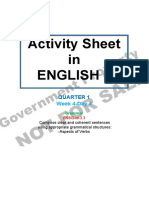 Activity Sheet English 6 Quarter 1 Week 4 Day 4