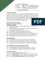 Curriculum Vitae for Francis Bainomugisha